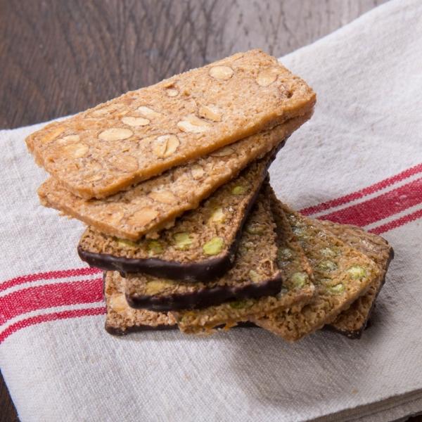 Croquets amandes, pistaches et chocolat - 20 pièces