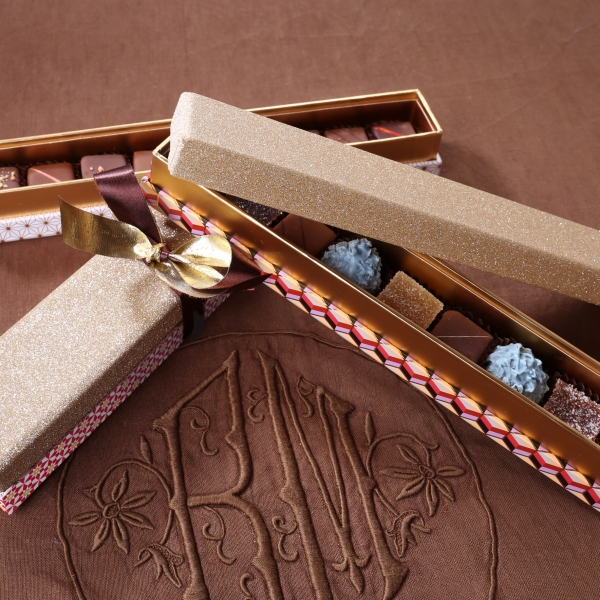 Réglette Prestige - Chocolats, pâtes de fruits & chardons - 9 pièces